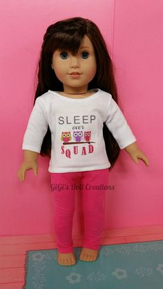 """NEW  FADED LOOK RED  COLORED T-SHIRT AMERICAN GIRL DOLL FITS 18/"""" DOLLS"""