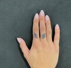 Simple Angel Tattoos, Simple Hand Tattoos, Simple Tattoos For Guys, Cute Tattoos For Women, Simplistic Tattoos, Dainty Tattoos, Small Tattoos, Small Tattoo Symbols, Small Angel Tattoo