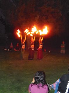 Fire Dancers on the lawn of the HarmonyHouse. Yet another celebration of the Divine Feminine.