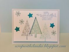 Stampin' Up! - Festival of Trees Chirstams card