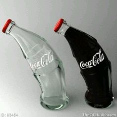 Coca Cola swerved bottles