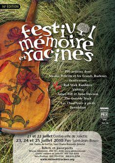 Affiche   Festival Mémoire et Racines 2010