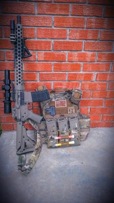 Plate Carrier and Rifle