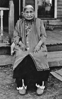 Nancy Black Squirrel-Miller on the Tonawanda Reservation in New York - Iroquois (Seneca - Bear Clan) - 1893