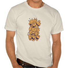 Yellow funny face characters Tee Shirt