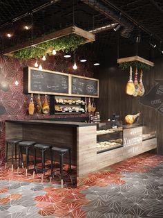 Restaurant Branding, Cafe Restaurant, Restaurant Ideas, Geneva Restaurant, Oyster Restaurant, Restaurant Chairs, Small Coffee Shop, Coffee Shop Bar, Coffee Bar Home