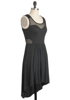 Bituminous Cool Dress. Take a cue from the sleek, earthy hue of coal, and create a look with this dark-grey tank dress at its core. #grey #modcloth