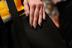 CND nails, made in collaboration with Naomi Yasuda, at the #OpeningCeremony presentation for #NYFW. #CNDatFashionWeek