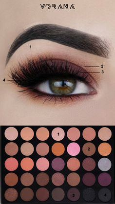 Consigue este look con la Warm Palette de Morphe. #MorpheBrushes #35W #Sombras #Ojos