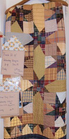 """Scrap Bag Star"" quilt, pattern by The Buggy Barn, class by Cindy Mead at The Country Loft."