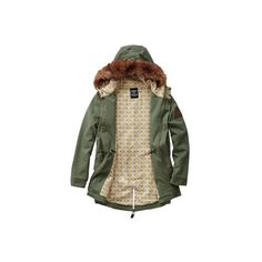 The Carter, Drop Dead Clothing ($155) ❤ liked on Polyvore featuring outerwear, coats, jackets, tops and green coat
