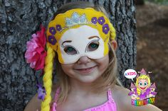 A personal favorite from my Etsy shop https://www.etsy.com/listing/247560252/rapunzel-mask-tangled-mask-princess-mask