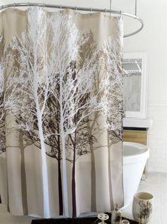 Splash Home Forest Shower Curtain: BedBathHome.Com Vinyl Shower Curtains,  Modern Shower Curtains