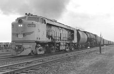 Gas turbine No. 74 leads a double-header with Big Boy 4008, Laramie, Wyoming, August 15, 1957.