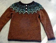 Ravelry: Project Gallery for Fjörður pattern by Bergrós Kjartansdóttir Icelandic Sweaters, Vest Outfits, Fair Isle Knitting, Sweater Knitting Patterns, Knitting Projects, Bunt, Knitwear, Knit Crochet, Clothes
