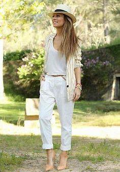 Zara Striped Linen Blazer Beige Light Brown