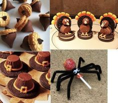 Halloween n thanksgiving treats Fall Snacks, Holiday Snacks, Fall Treats, Holiday Cookies, Holiday Fun, Kid Snacks, Fall Desserts, Fall Cookies, Holiday Candy