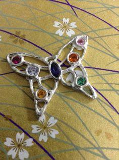 Butterfly/Chou-Chou gemstones silver. Feb 2014.