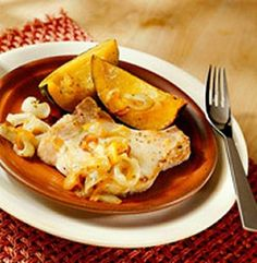 Slow Cooker Orange-Mustard Pork Chops with Squash Easy Pork Chop Recipes, Pork Recipes, Ww Recipes, Recipies, Skinny Recipes, Dinner Recipes, Healthy Slow Cooker, Slow Cooker Recipes, Crockpot Recipes