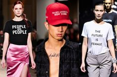 From left to right: By Victor Virgile/Gamma-Rapho, Randy Brooke/WireImage, Slaven Vlasic, all from Getty Images. FASHION TEES PARTICIPATE IN OUR AMERICAN PROCESS  Yes!