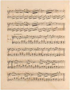 Sheet Music #2 Fairy Music, Graphics Fairy, Sheet Music, Vintage