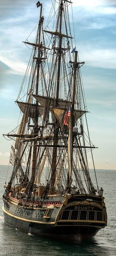 Replica of the famous HMS Bounty.  Mutiny On The Bounty was a great book.