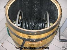 REEL BARREL Hose Reel WHISKEY BARRELS, Jack Daniels avail SPRING SALE!