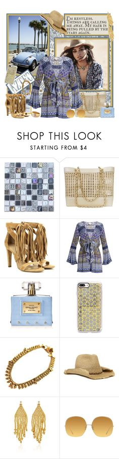"""Star Chaser"" by cupcakecouturegirls ❤ liked on Polyvore featuring John Robshaw, Chanel, Chloé, Spell & the Gypsy Collective, Camilla, Versace, Casetify, Nine West, Magdalena Frackowiak and Linda Farrow"