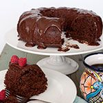 Mexican Chocolate Bundt Cake with Tequila Almond Liqueur Ganache on Clabbergirl.com.