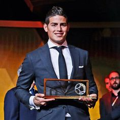 James Rodriguez. #HalaMadrid 12.1.15 Puskas Award Best Goal of 2014 vs Uruguay WC 2014