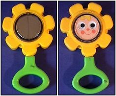 fisher priceToys From The 80S   1973 Vintage Fisher Price Plastic Flower Baby Rattle~ Very good ...