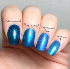 opi Do you sea what I sea? – I sea you wear OPI – Venice the party? – Yodel me on my cell