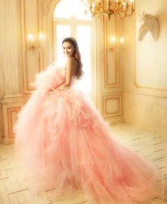 pink gown.  It's all about the tulle ❤️