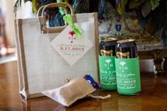 What's a destination wedding without matching welcome bags for all the guests? These goodies included a note of gratitude from the couple, a weekend schedule, snacks and even custom beer koozies! Wedding Koozies, Wedding Bag, Our Wedding, Dream Wedding, Wedding Dreams, Tuscan Wedding, Cruise Wedding, Wedding 2017, Wedding Paper