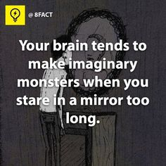 That just scared the crap out of me. And I will not look into another mirror for probably.... Forty years