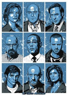 Awesome Breaking Bad Poster by Chris Morkaut (@ChrisMorkautArt) Pinned this before but I like this color better.... :)