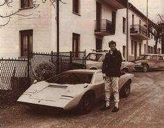 Lamborghini LP500 Countach Prototype And Chief Development Driver Bob Wallace