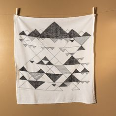 Items similar to Tea Towel - Jackson Hole Print on Etsy Jackson Hole, Waxed Canvas, Tea Towels, Canvas Tote Bags, Hand Sewing, Quilts, Blanket, Black And White, Unique Jewelry