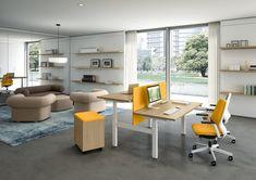 Up&Up collection of desks and benches adjustable in height, according to the user's benefit. To the typical sedentary nature of the office environment, we oppose a product which encourages action and alternance between the sitting and standing position. Bureau Design, Lift Table, Office Seating, Office Environment, Home Office Furniture, Furniture Design, Simple House, Innovation Design, Decoration