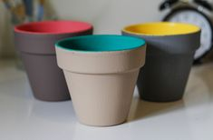 DIY Painted Planters | The Crafted Life