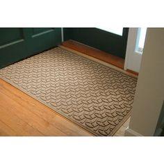 Bungalow Flooring Aqua Shield Elipse Doormat Size: 4' x 6', Color: Camel