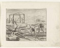 Timmeren van het Behouden Huys, anonymous, after Gerrit de Veer, 1615 - 1617 - Rijksmuseum Utrecht, Sailors, 17th Century, Anonymous, Nova, History, Art, Art Background, Historia