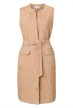 Shop Women's Clothing Australia - Witchery Online - Suede Gilet