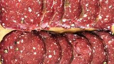 Tasty rolls of mustard seed and smoke flavored summer sausage is a great way to use up some ground venison. Deer Salami Recipe, Venison Salami Recipe, Venison Summer Sausage Recipe, Homemade Summer Sausage, Summer Sausage Recipes, Salami Recipes, Homemade Sausage Recipes, Venison Recipes, Meatloaf Recipes