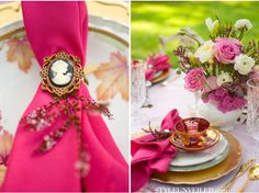 Alice In Wonderland Inspired Wedding | place setting details