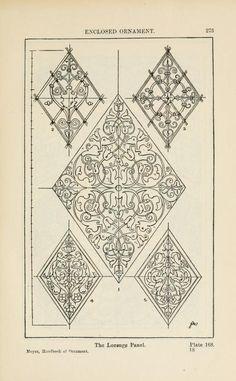 A handbook of ornament; enclosed ornament the lozenge panel  pg 273