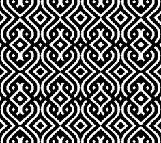 Printable Geometric Patterns | ... Black and White Vintage Geometric Pattern | Custom Printed Blinds