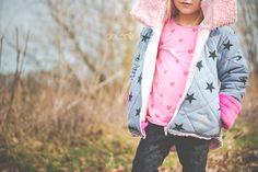 Jacket - winter - for kids - diy - sewing - stars - rose - german
