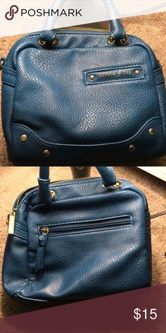 Mini handbag Mini hand bag with no shoulder strap. Main zipper compartment and zipper in the back. Approx. 7 inches. Olivia + Joy Bags Mini Bags