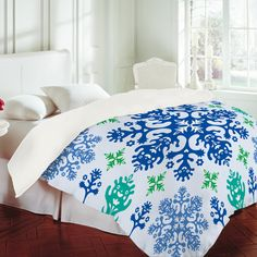 DENY Designs - Andi Bird Monstrous Blue Duvet Cover
